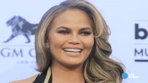 Chrissy Teigen laughs off nipple-baring photo