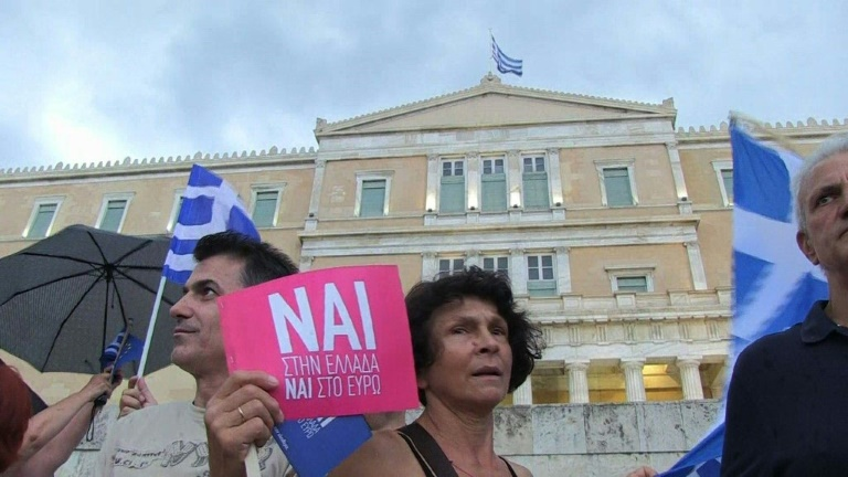Pro-Europe demonstration in central Athens