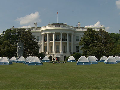 First lady hosts Girl Scouts at White House