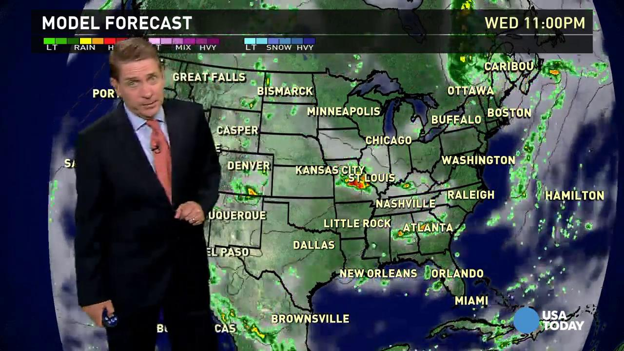 Wednesday's forecast: A lot of thunderstorms