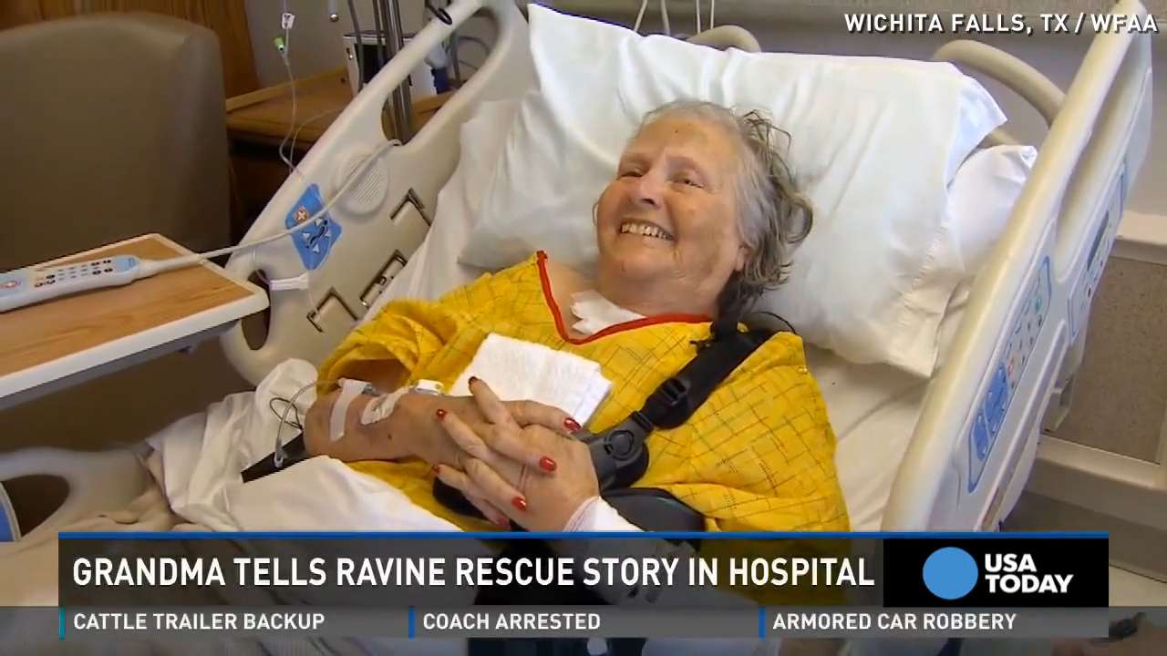 Granny survives after being stuck in ravine for 2 days
