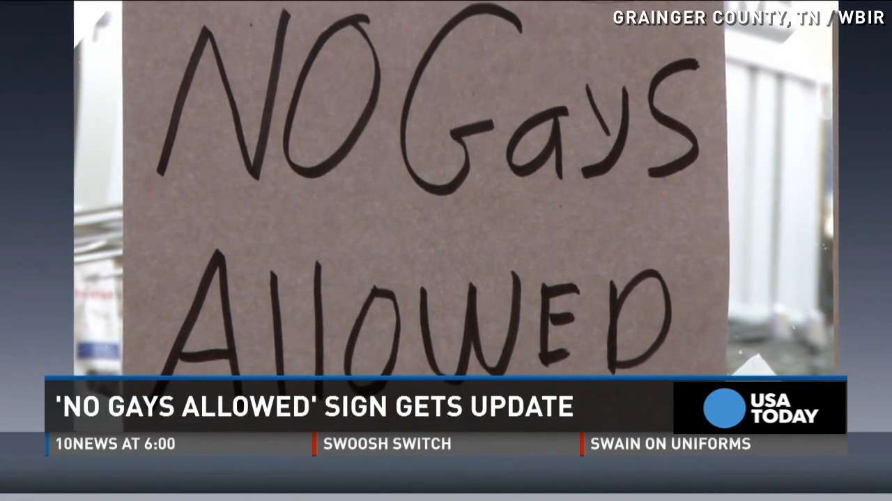 'No Gays Allowed' sign put up at hardware store