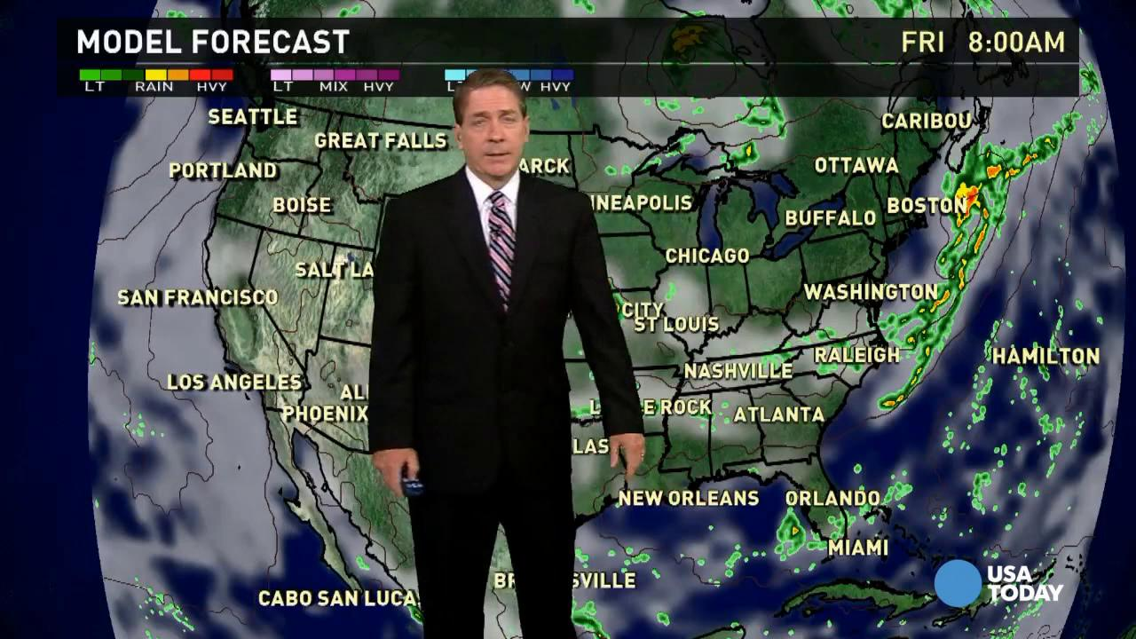 Thursday's forecast: Cold front stalls in the East