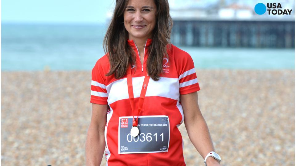 Pippa Middleton runs marathon a week after 54-mile bike ride