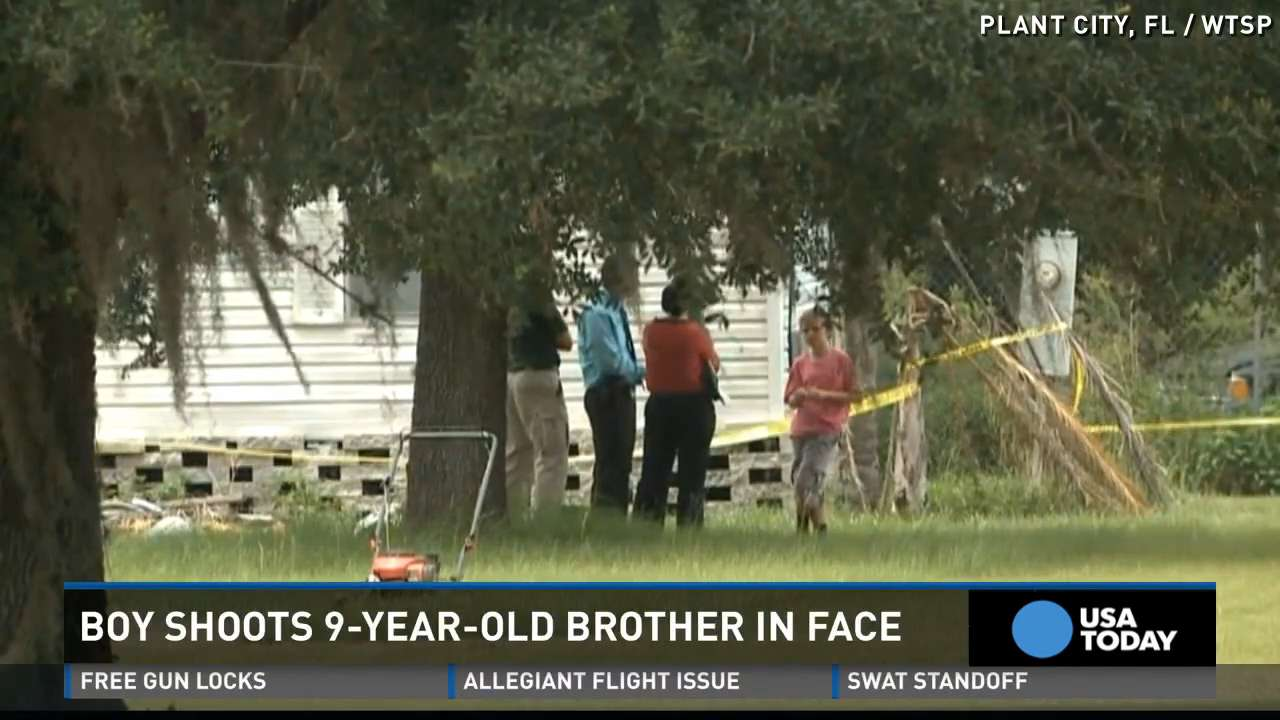 9-year-old boy shot in face by brother