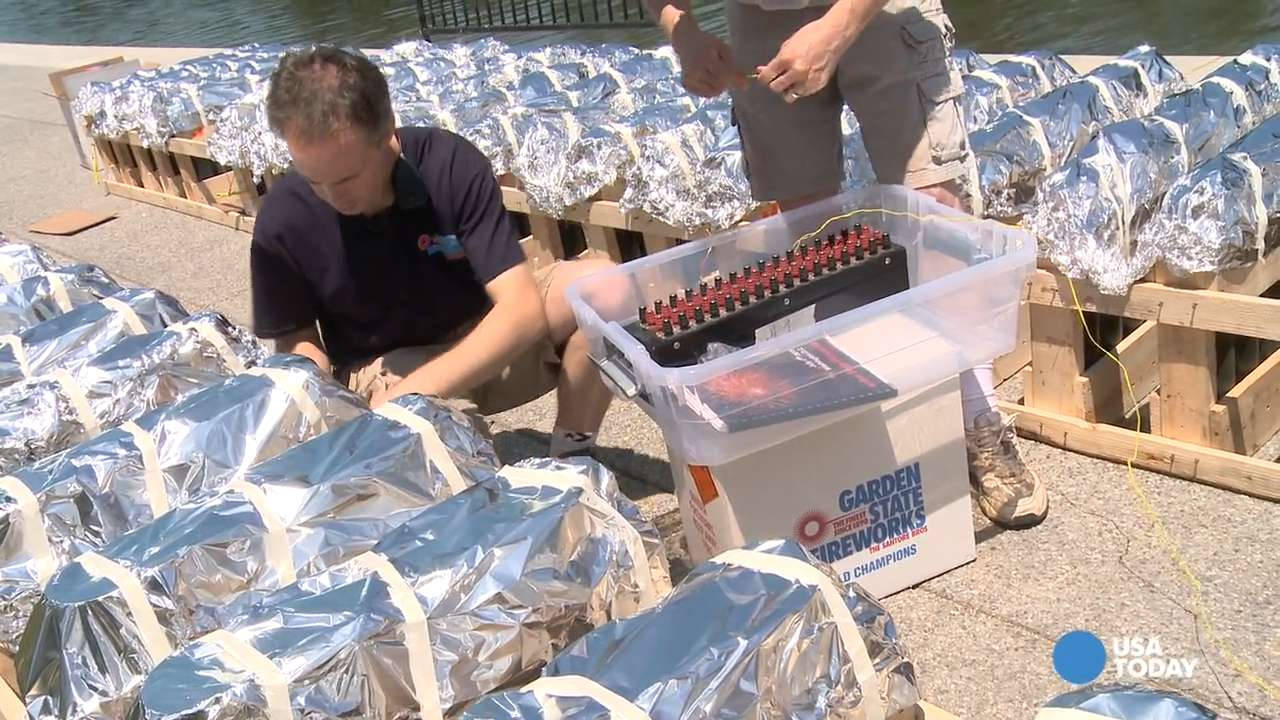 A year in the making: Workers prep National Firework Show