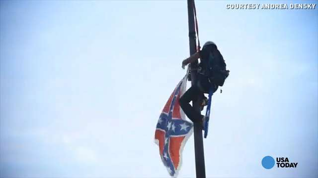 Confederate flag activist's dad humbled by her courage