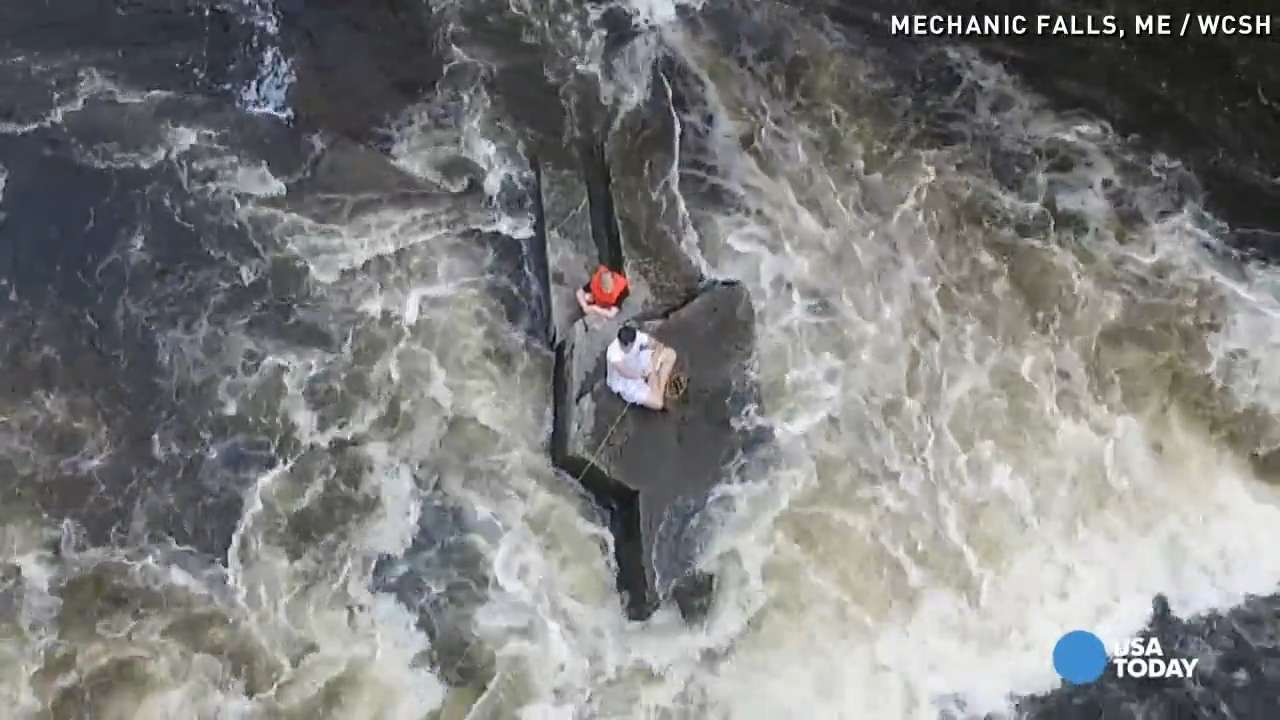 Rescue crews use drone to deliver life jacket
