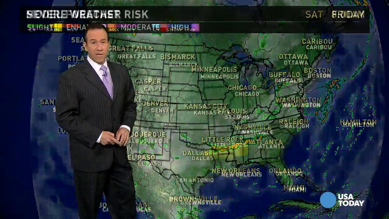 Friday's forecast: Severe weather for parts of the South