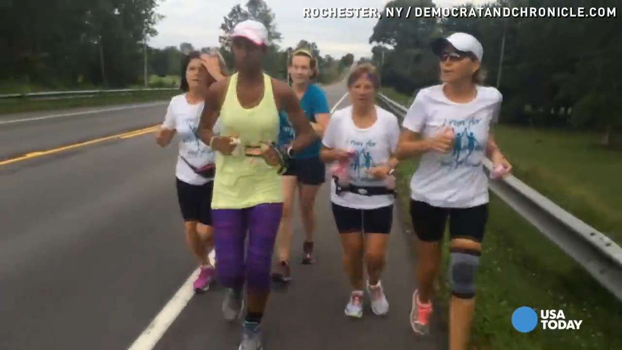 Cancer survivor runs 466 miles to raise awareness