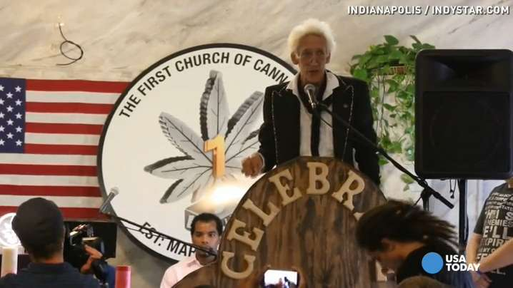 Weed church opens: 'One toke, one smile, one love'