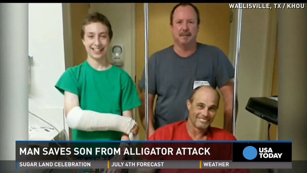 Hear how father saved son from alligator attack