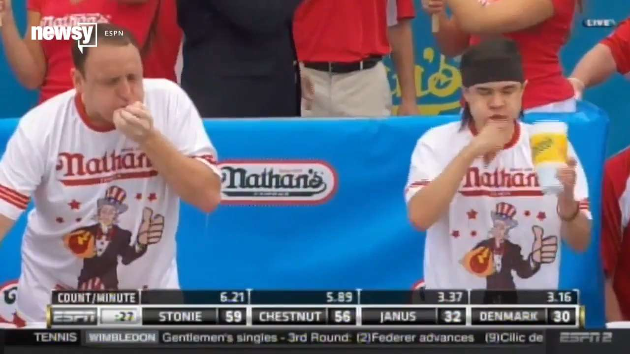 Joey Chestnut meats his match, loses hot dog eating contest