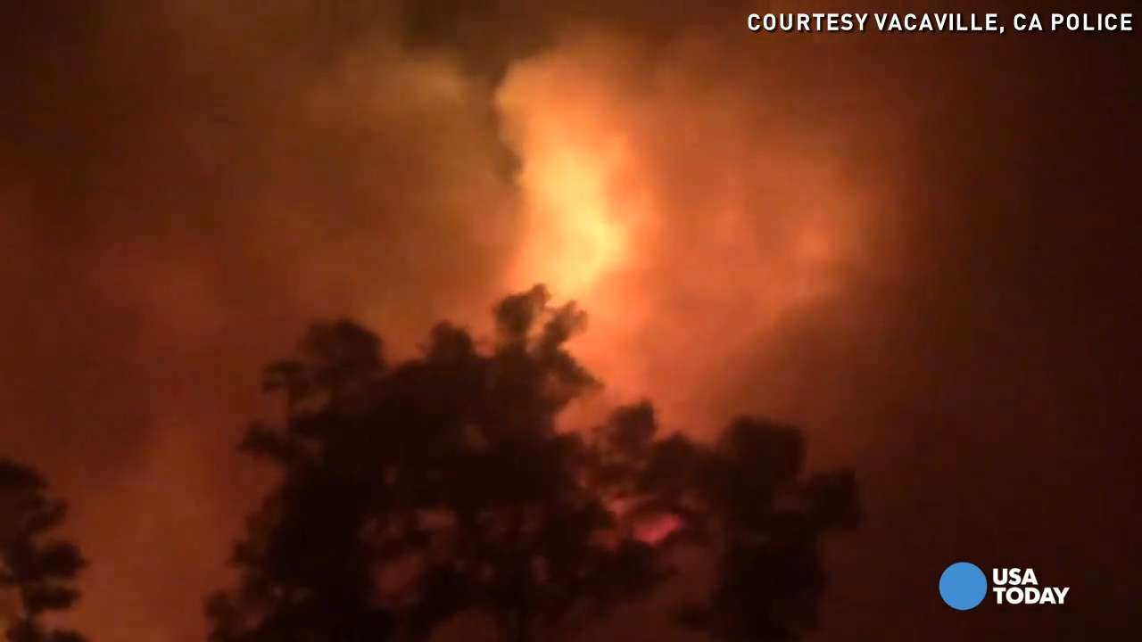 Winds fan flames of Northern California wildfire