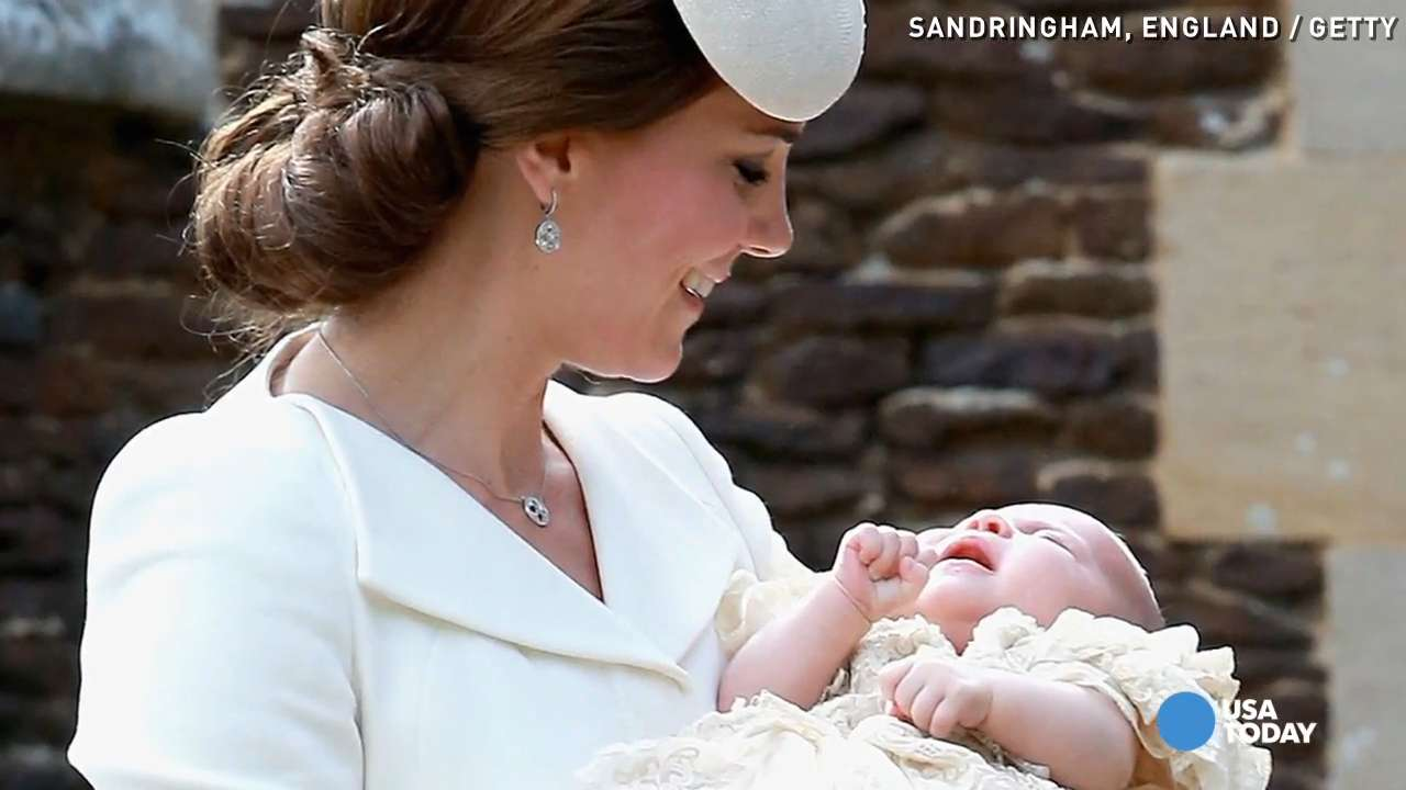 Princess Charlotte charms at christening