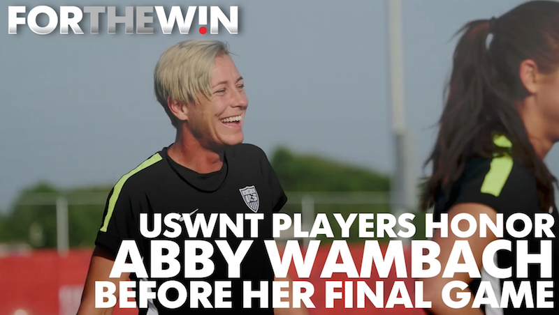 USWNT team members offer memories of Abby Wambach before her final game