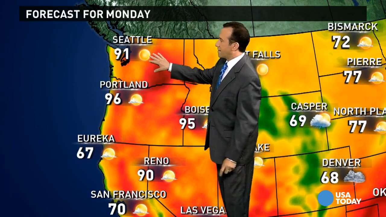 Monday's forecast: Record heat for Pacific Northwest