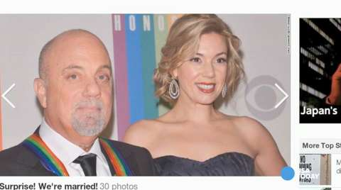 'Piano Man' Billy Joel a married man