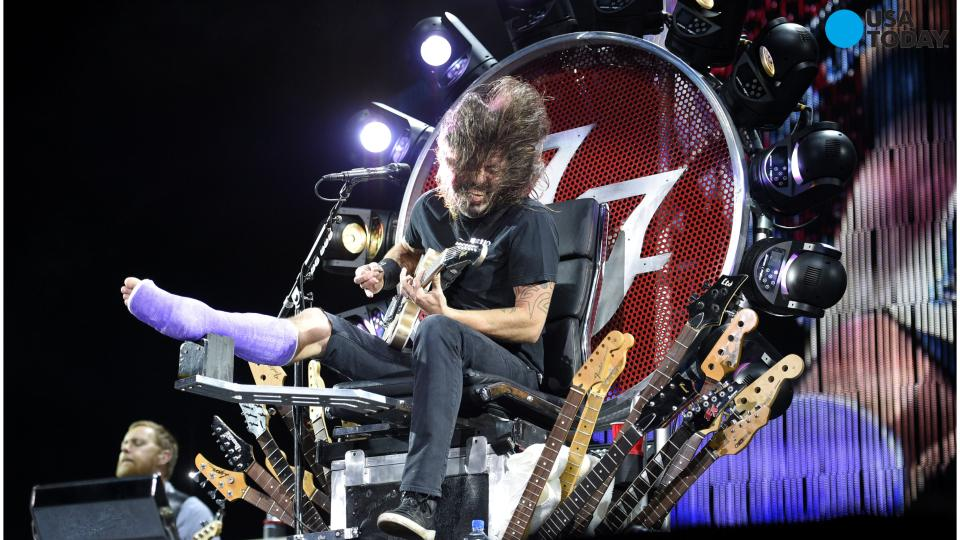 Dave Grohl Performs With Broken Leg While Sitting on Awesome Throne at 4th of July Concert