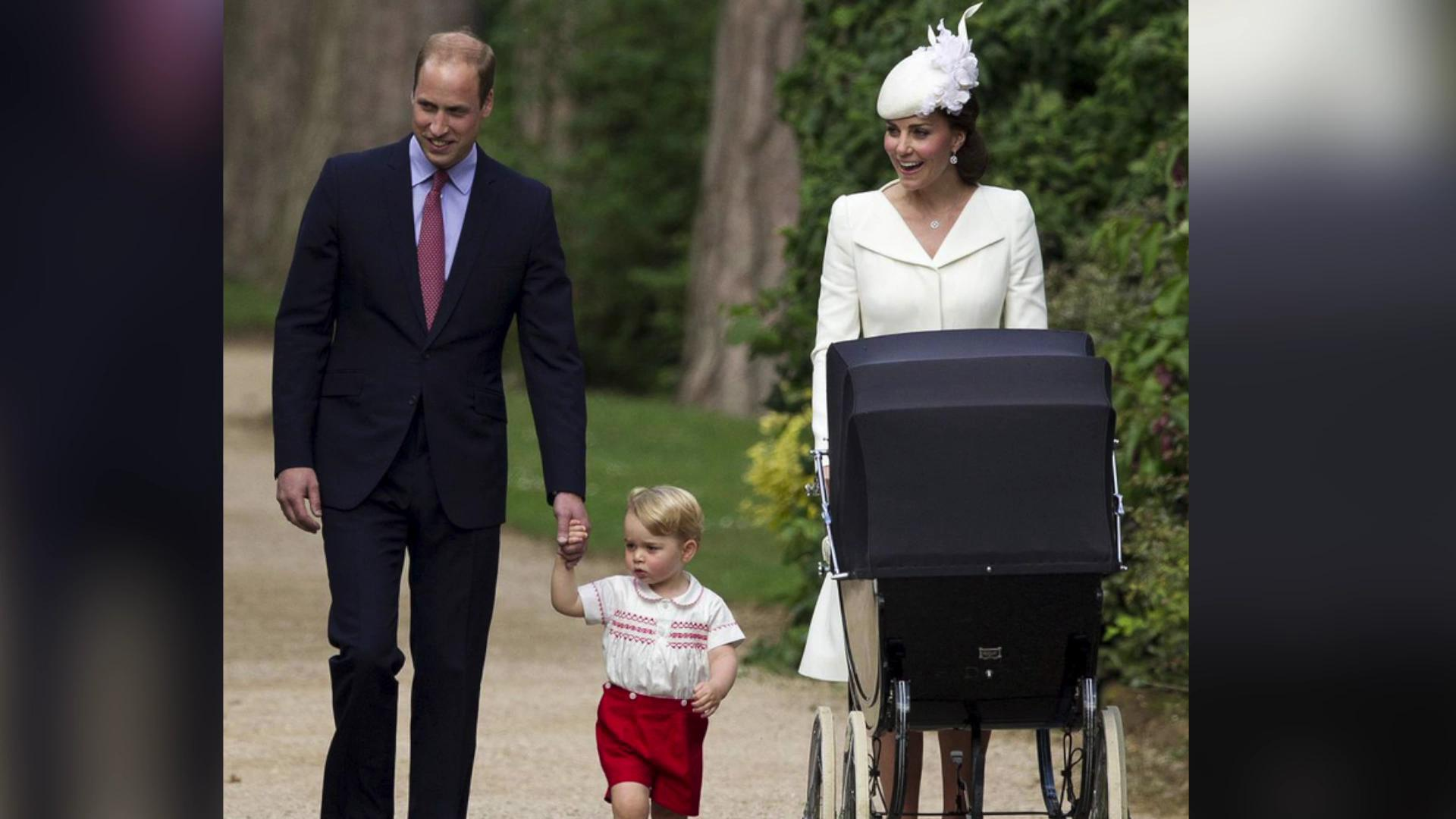 Prince George steals the show at Princess Charlotte's christening