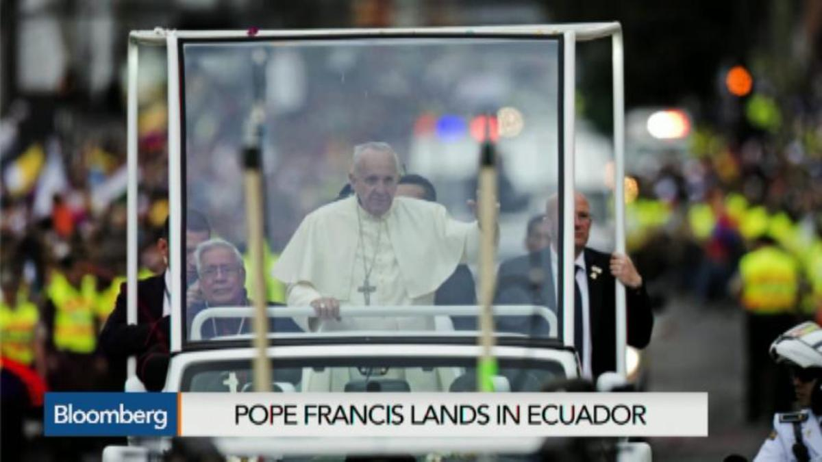 Pope Francis begins South America tour