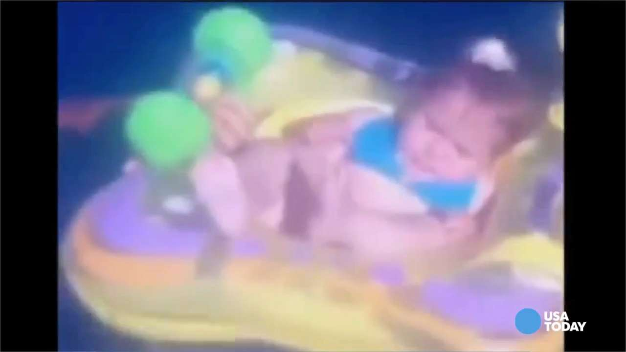 Parents watch helplessly as baby floats out to sea