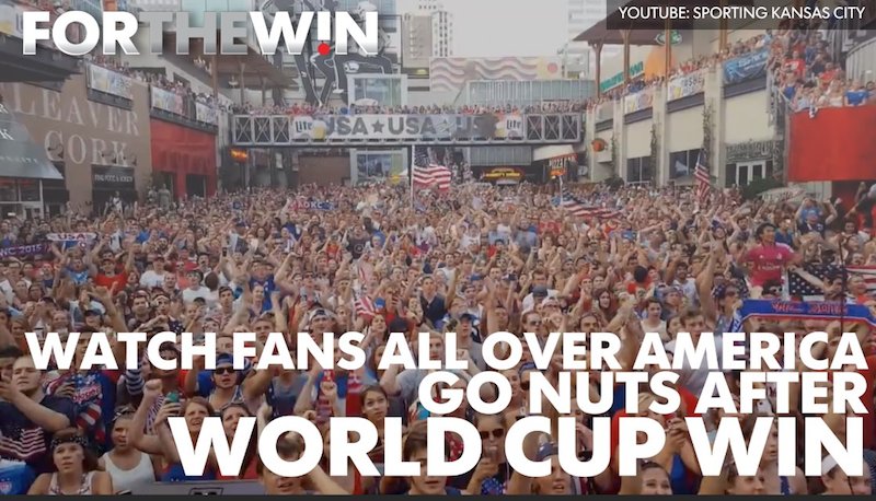 Watch fans all over America go crazy as U.S. wins WCup