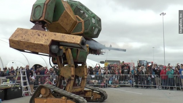 Two giant robots are going to have a (hopefully) epic fight