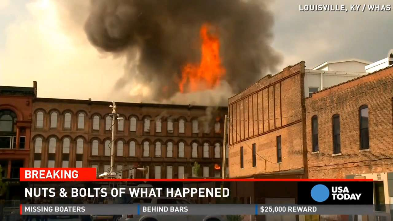 Fire ravages Louisville's famed Whiskey Row