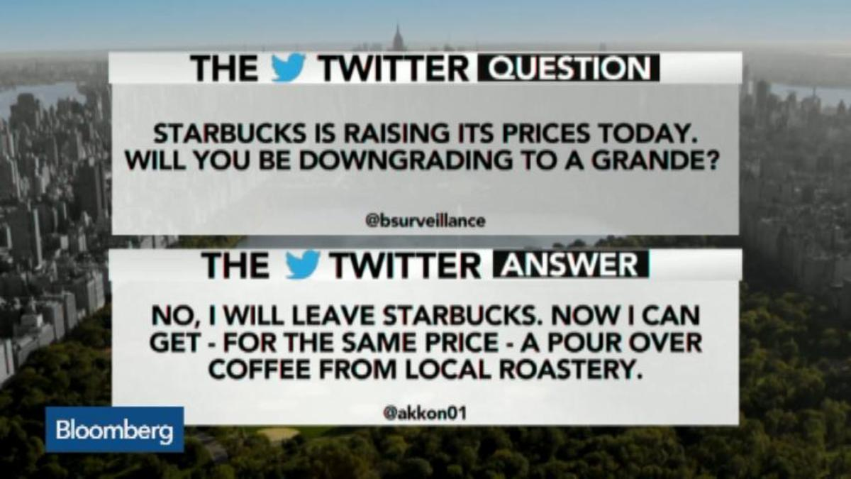 Starbucks Is raising its prices today