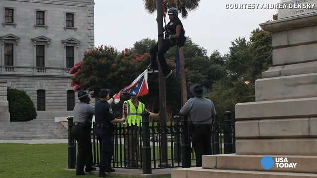 Activist who took down rebel flag: It's like a Nazi flag