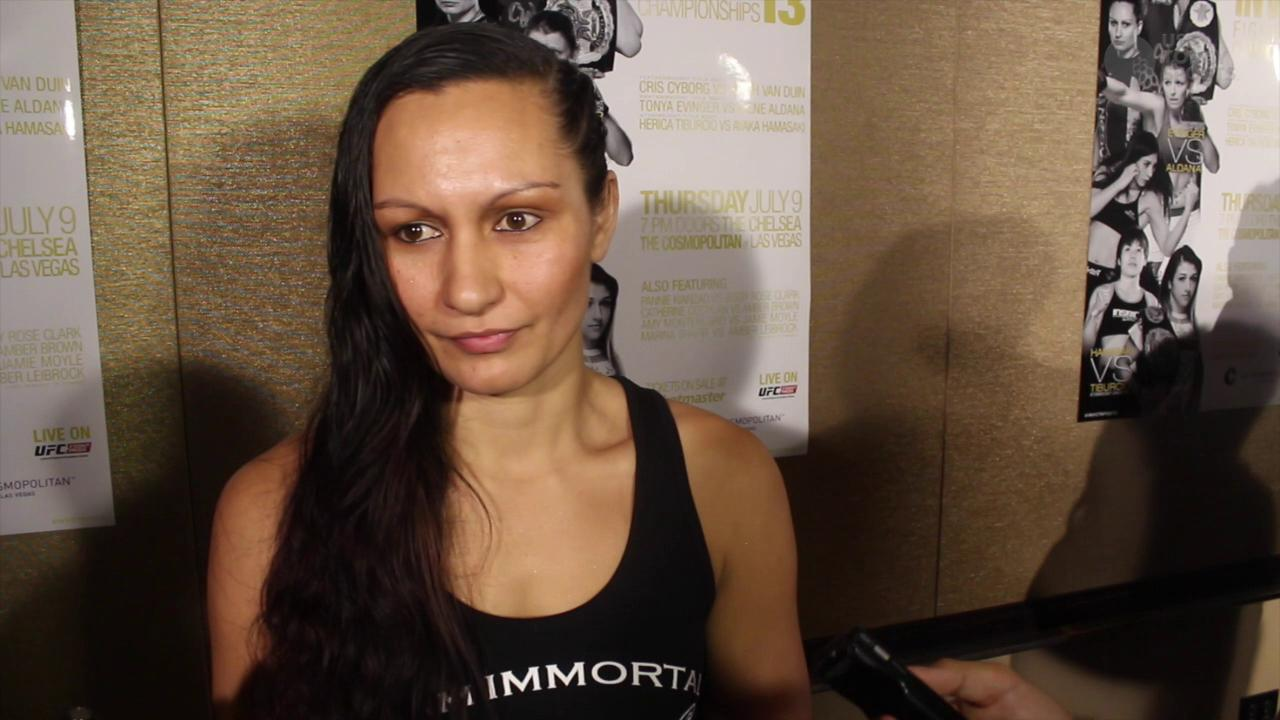 Faith Van Duin admits she's nervous, but not about fighting 'Cyborg'