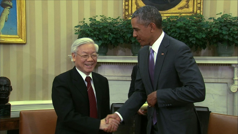 Vietnamese Communist party chief visits White House