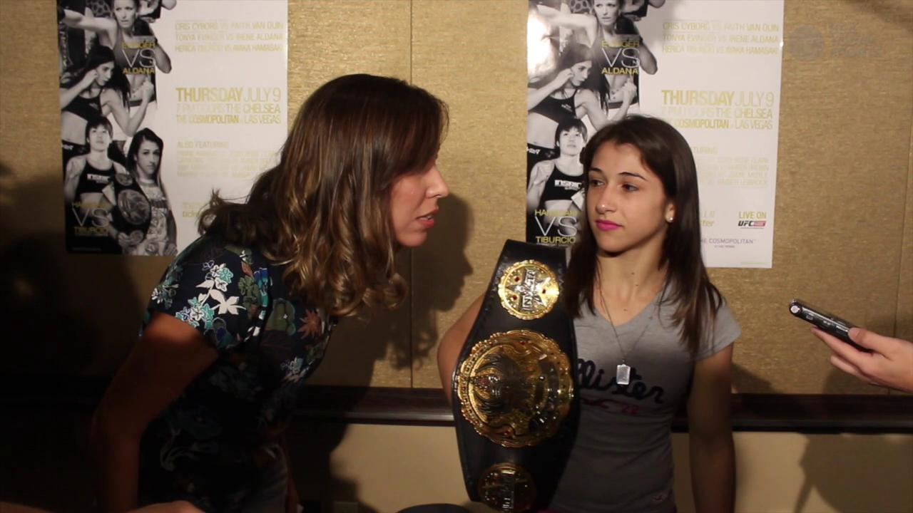 Herica Tiburcio enjoying the life of an Invicta FC champion