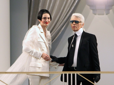 Kendall Jenner closes Chanel catwalk in Paris