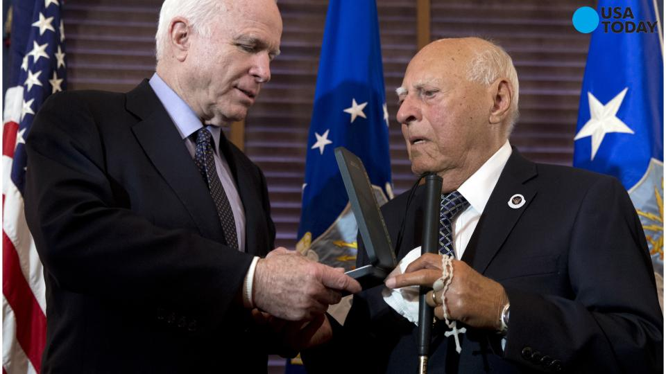 70 years later, WWII bombardier receives Presidential honor