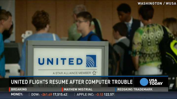 Glitch grounds United Airlines flights, creates delays