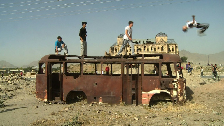 Young afghans find freedom through freerunning flips