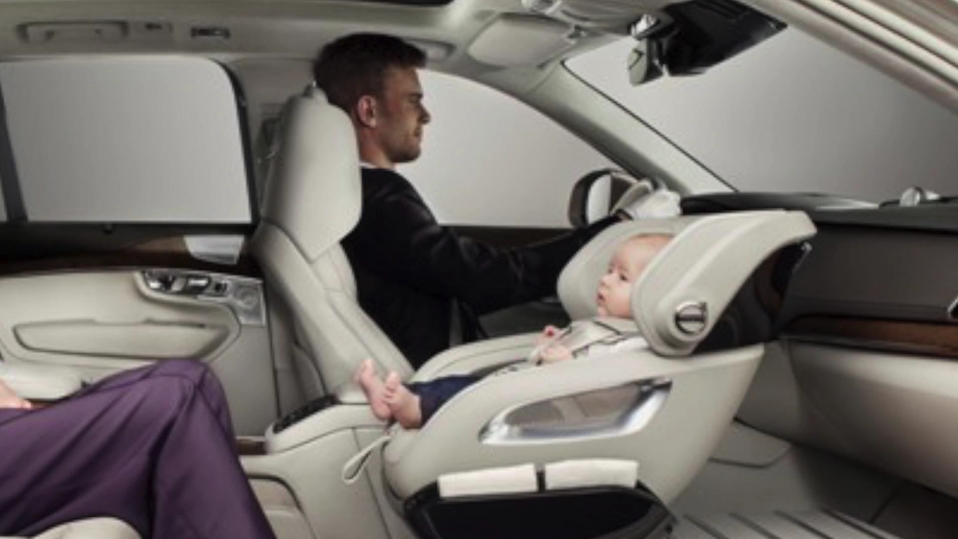 Volvo design concept replaces passenger seat with baby carrier