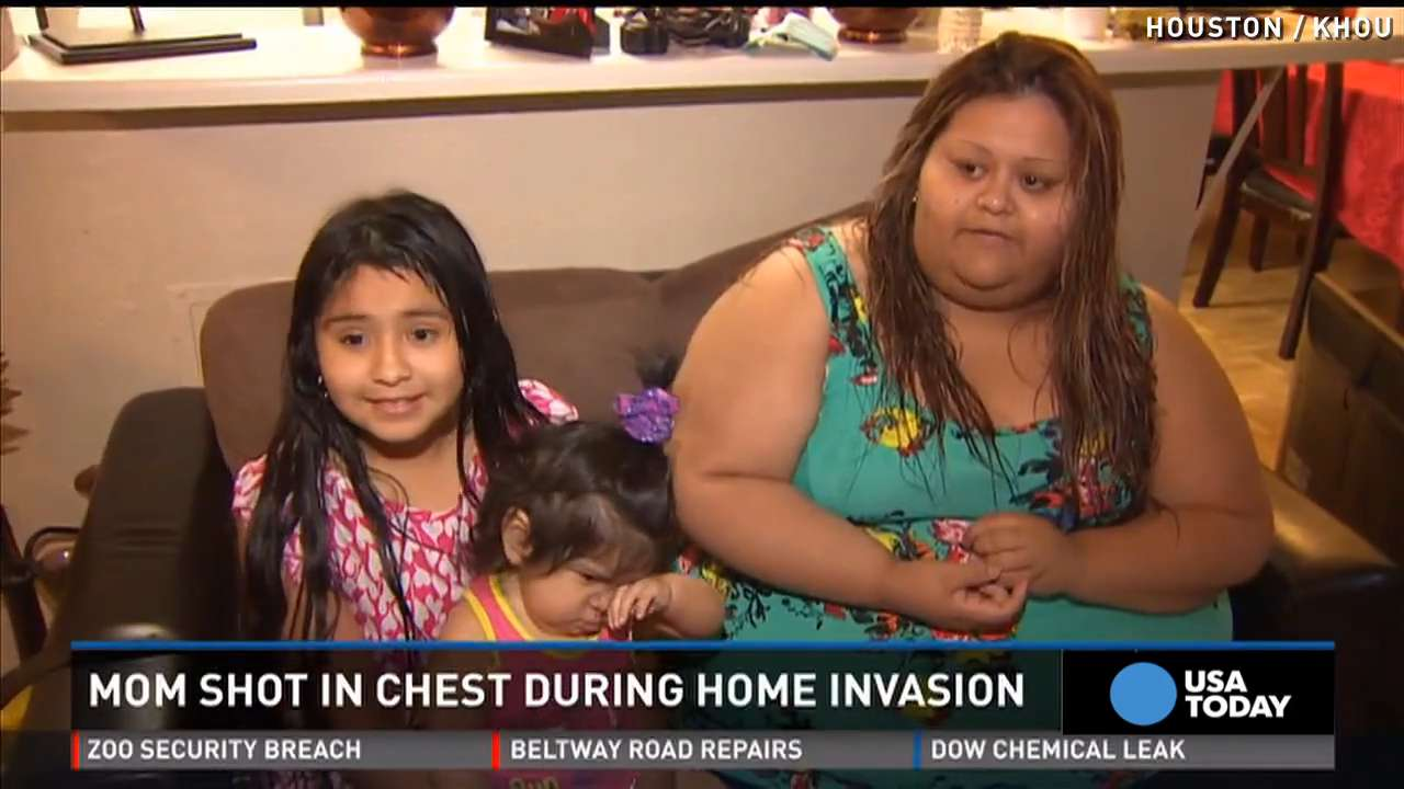 Mom takes bullet, shields son during home invasion