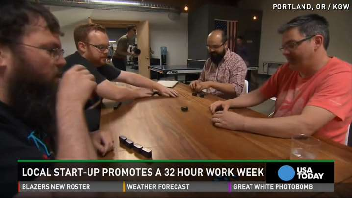 Startup's 32-hour-work week encourages 'epiphany moment'