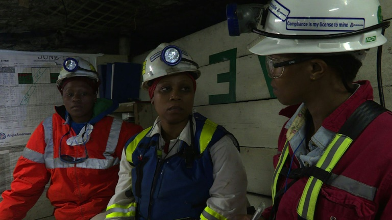 S. African female miners break ground for their gender