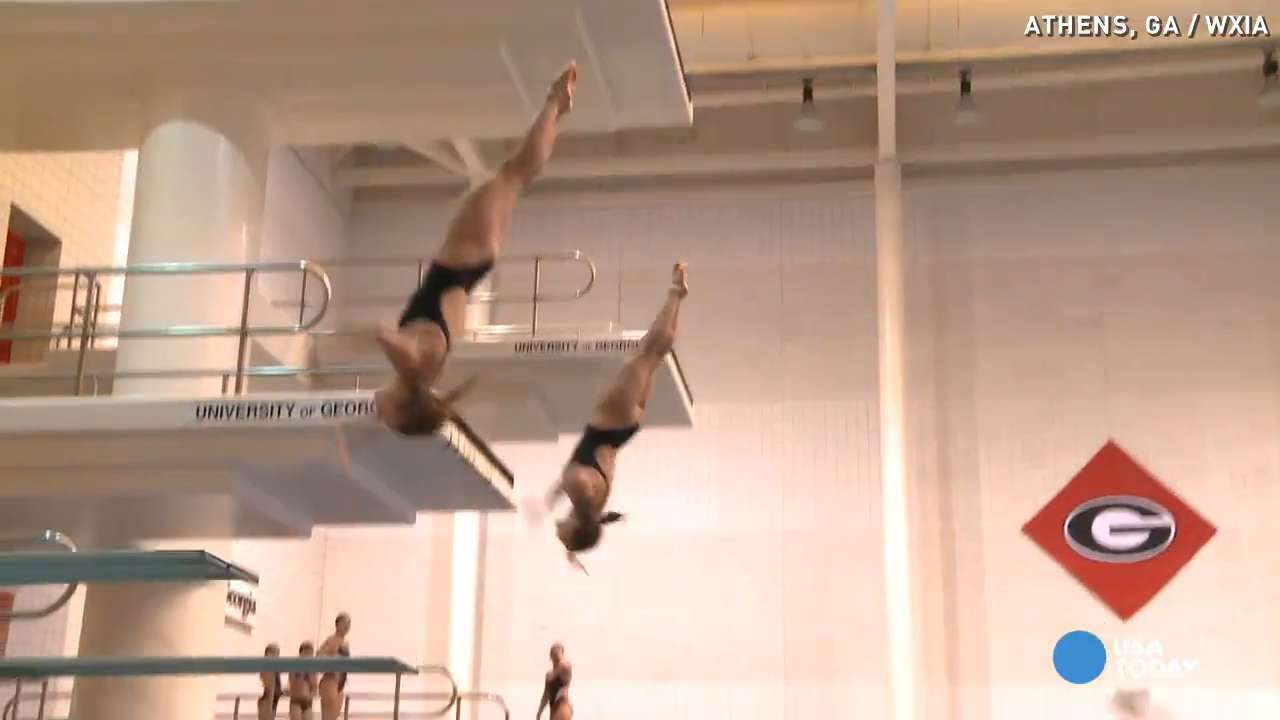 Top diving duo in the U.S. train for the Olympics