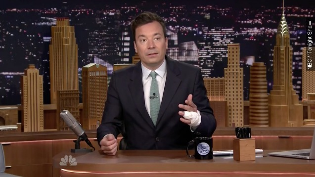 Jimmy Fallon opens up about his nasty finger injury