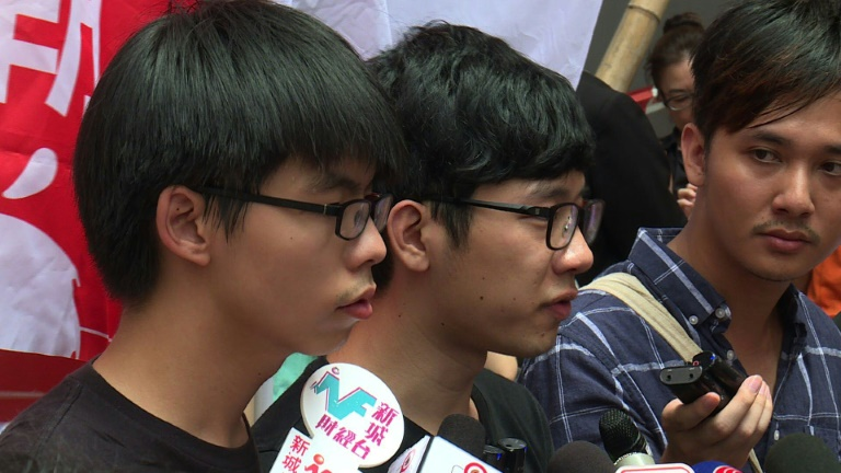 Hong Kong student activists charged over anti-China protest