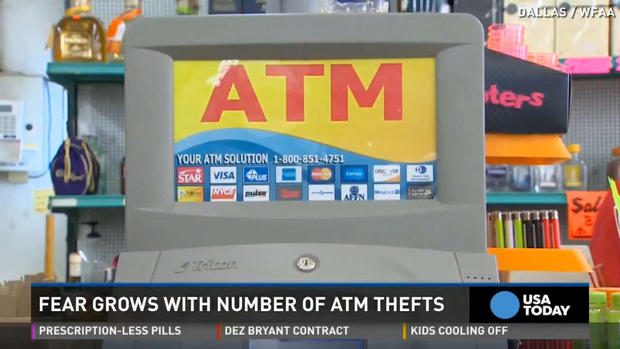 ATM thefts on the rise, more stores going without