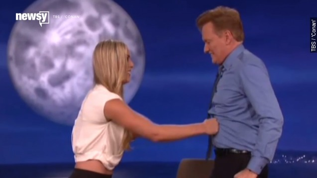 See Lindsey Vonn punch Conan in the stomach repeatedly
