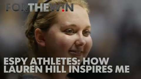 Athletes on the red carpet discuss how the young athlete inspired them.