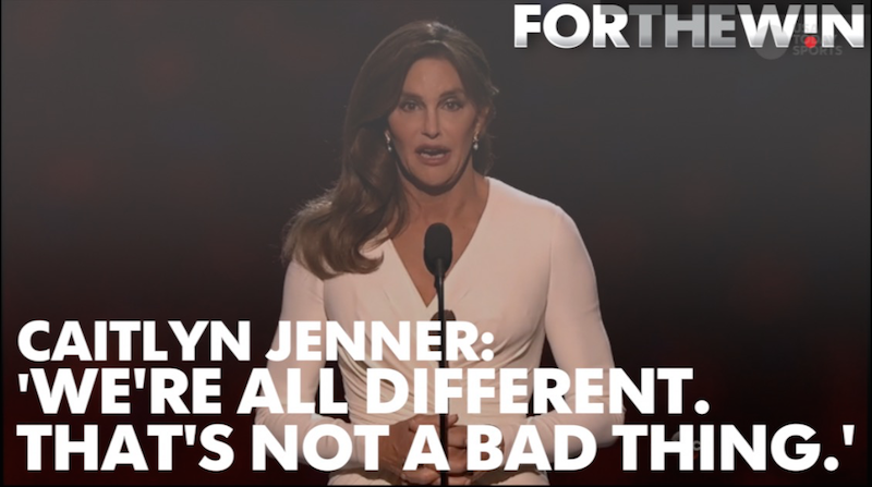 Jenner received the Arthur Ashe Courage Award.