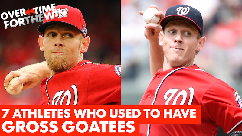 Seven athletes who used to have gross goatees